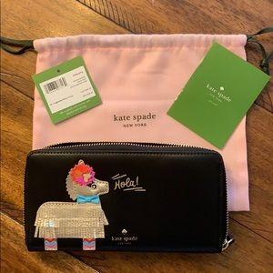 Kate spade zip Hola wallet NWT
